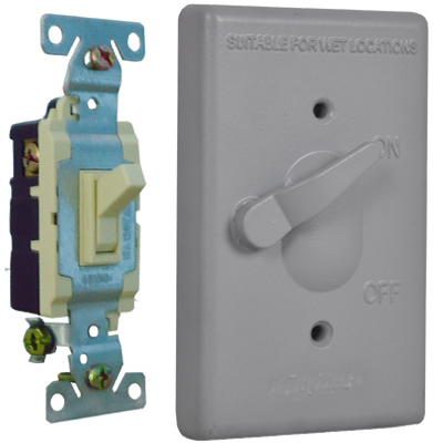 ME GRY 1G Switch Cover - Woods Hardware