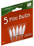 NOMA/INLITEN-IMPORT 1115-2-88 Holiday Wonderland, 2.5V, Clear, Mini Replacement Bulbs For 50, 100