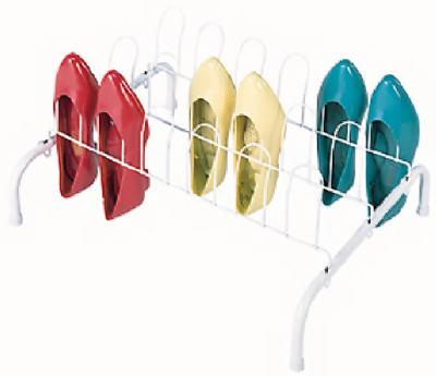 9PR WHT FLR Shoe Rack