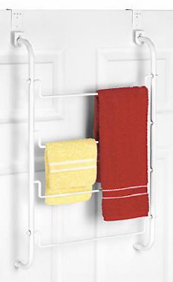 WHT Over DR Towel Rack