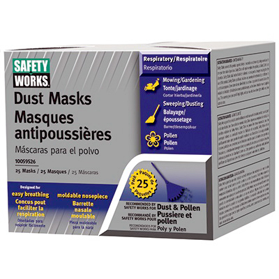 25PK NonToxic Dust Mask