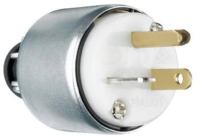 20A 125V WHT Armor Plug