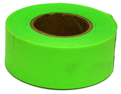 150 Glo Lime Flag Tape