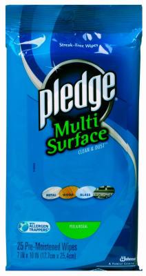 25CT Pledge Multi Wipes