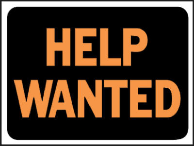 9x12 Help Wanted Sign