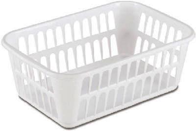MED WHT PlasStor Basket