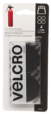 """1-7/8"""" BLK Coin Velcro"""
