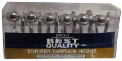 12PK SLV MTL Ball Hooks