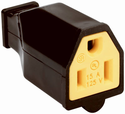 15A 125V BLK Connector - Woods Hardware