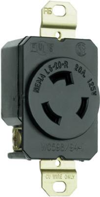 20A125V BLK Lock Outlet