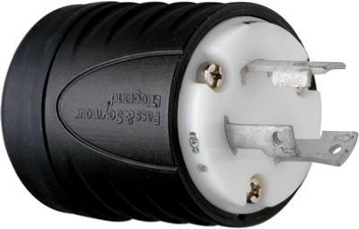 30A 250V BLK 2P Plug - Woods Hardware