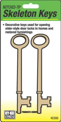 2PK Notch Skeleton Keys