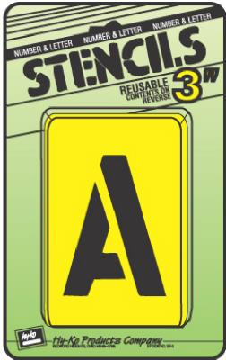 """3""""Numb/Lett Stencil Set"""
