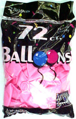 72CT Hot Pink Balloon