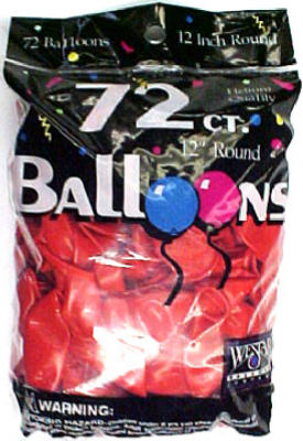 72CT RED Helium Balloon
