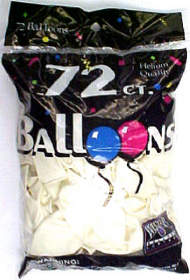 72CT WHT Helium Balloon