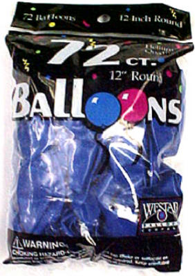 72CT Royal BLU Balloon