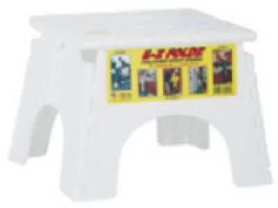 EZ WHT Fold Stepstool