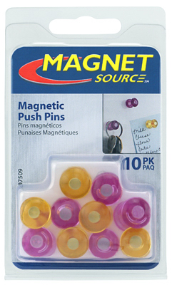 10CT Pur/YEL Magnet Pin