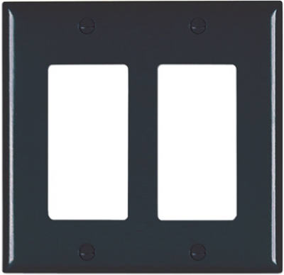 2G 2Deco BLK Wall Plate