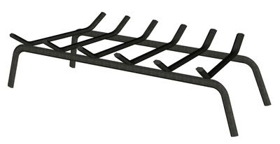 "30"" BLK WI Fire Grate"