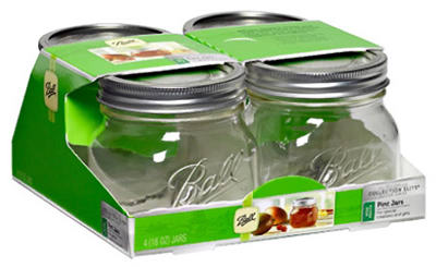 4PK 16OZ Platinum Jars