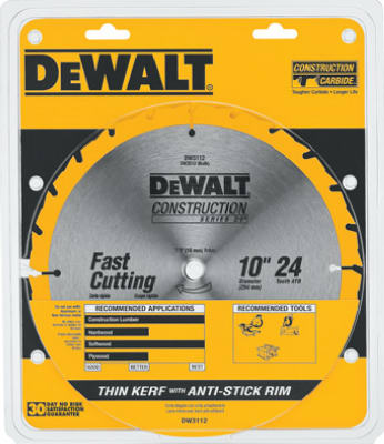 "10"" 24T Table Saw Blade"