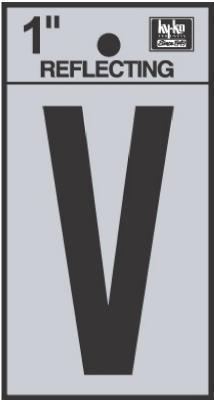"""1"""" BLK Letter V"""