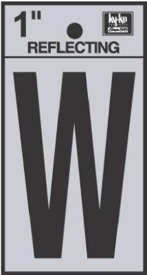 "1"" BLK Letter W"