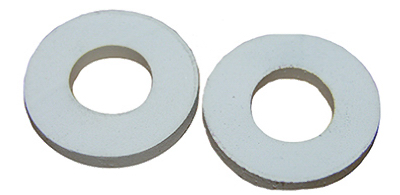 2PK WHT ToilSeat Washer