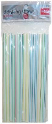 50CT WHT Jumbo Straws