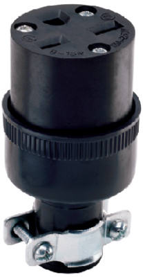 15A 250V BLK Connector