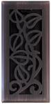 Vine Floor Register, Oil Rubbed Bronze, 4 x 10-In.