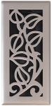 Vine Floor Register, Satin Nickel, 4 x 10-In.