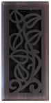 Vine Floor Register, Oil Rubbed Bronze, 4 x 12-In.