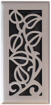 Vine Floor Register, Satin Nickel, 4 x 12-In.