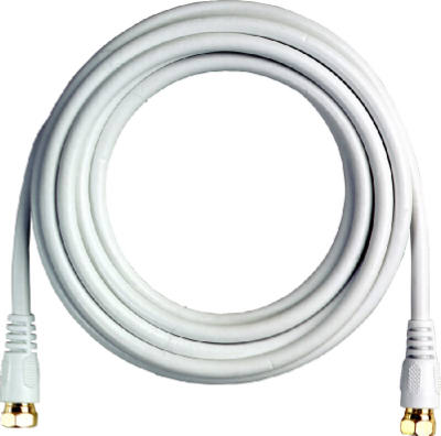 12 WHT RG6 Coax Cable