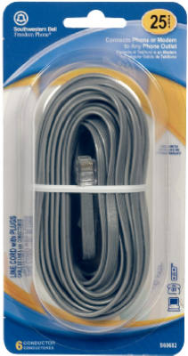 25' GRY Line Cord - Woods Hardware