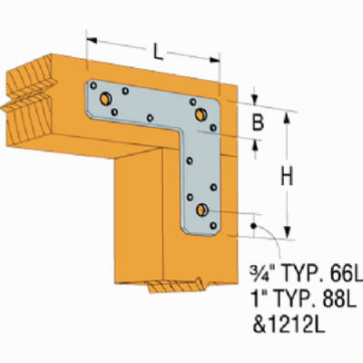 G90 L Strap Tie