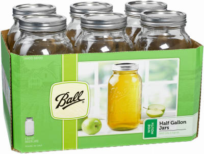 Ball 6PK 1/2GAL W/M Jar