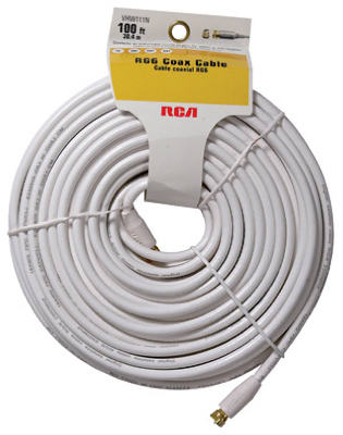 100WHT RG6 Coax Cable