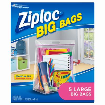 5PK Ziploc HD Big Bag