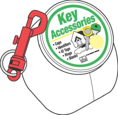 100PK Plas Key Clip