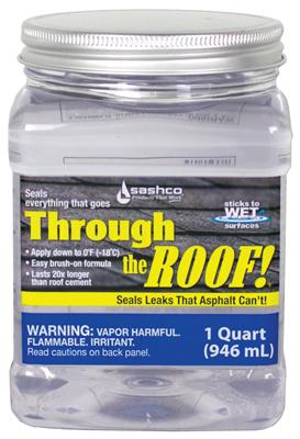 Sashco Qt Through The Roof Brushable Clear Elastomeric