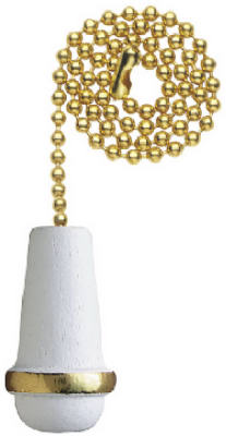 """12"""" WHT Cone Pull Chain"" - Woods Hardware"