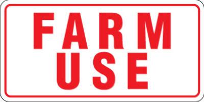 6x12 ID Farm Use Tag