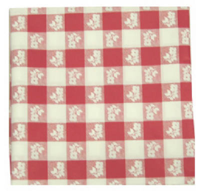 "82"" RND Ging Tablecloth"