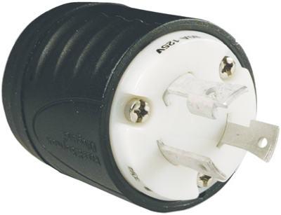 30A 125V BLK Lock Plug - Woods Hardware