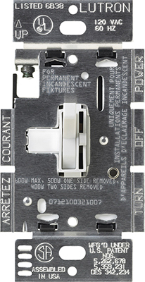 WHT 3WY Switch & Dimmer