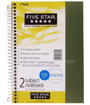 100CT WHT Notebook